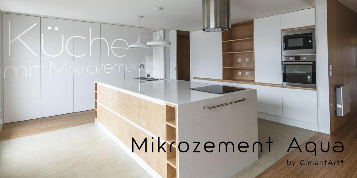 Küche mit mikrozement