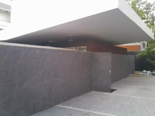 Exterior Wall Microcement Steel - Roof Microcement White