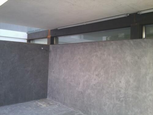 Exterior wall Microcement Silver